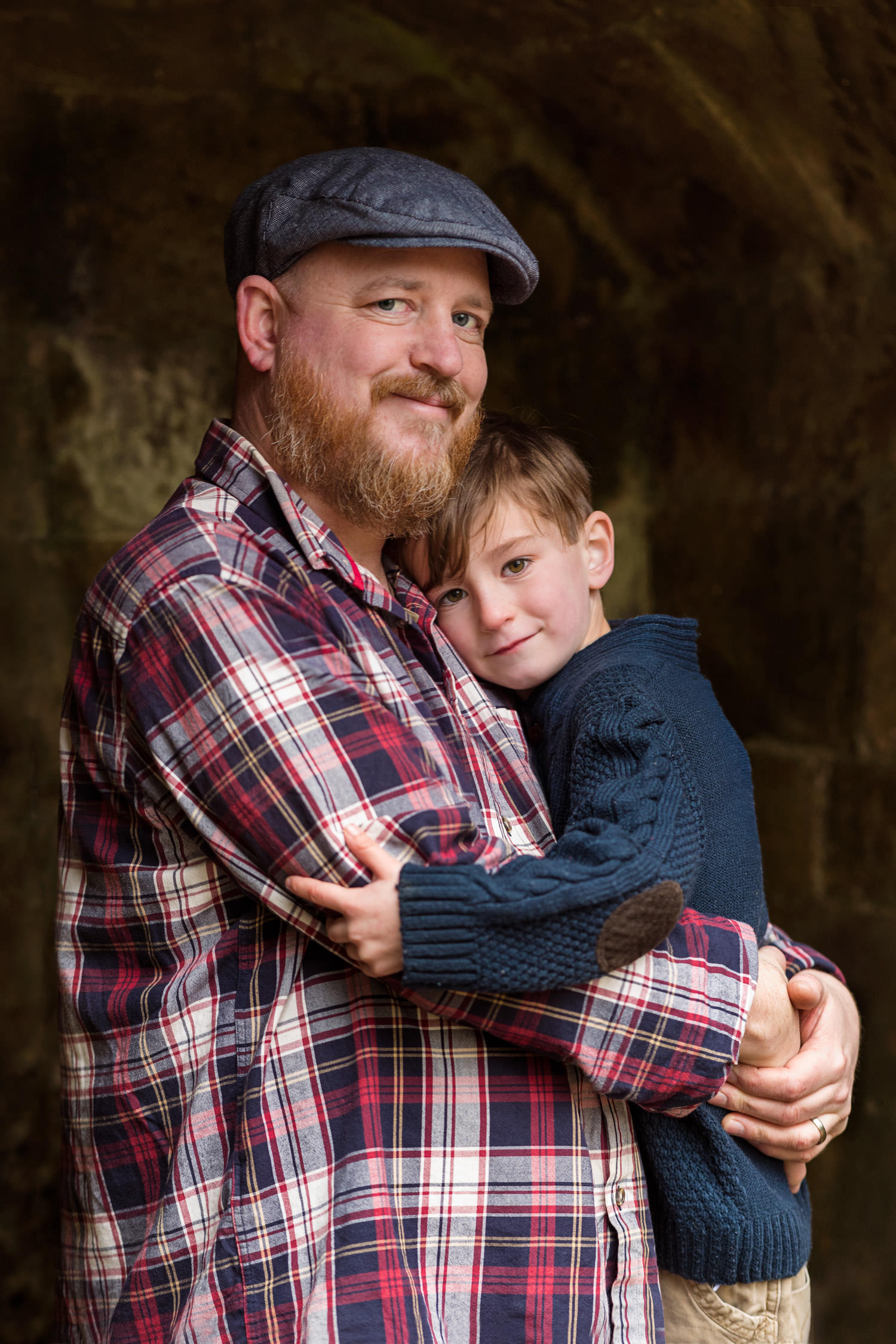Father and son portrait in folly