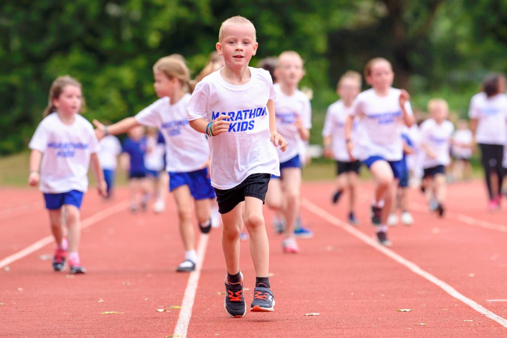 Child running for Marathon Kids