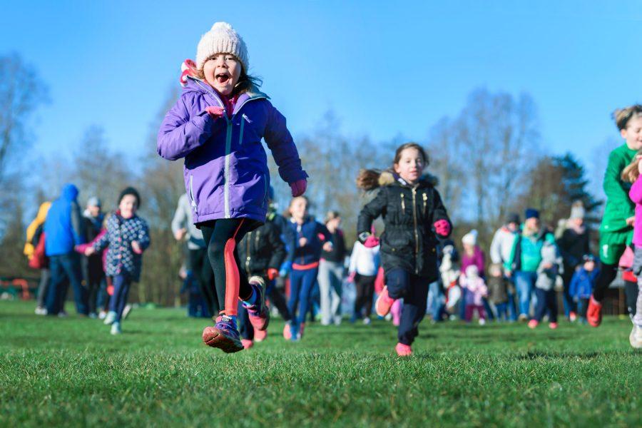 Children sprinting at Kids Run Free Event in Banbury