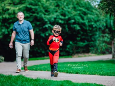 Alexandra Tandy Photography Boy dressed as an Incredibles character