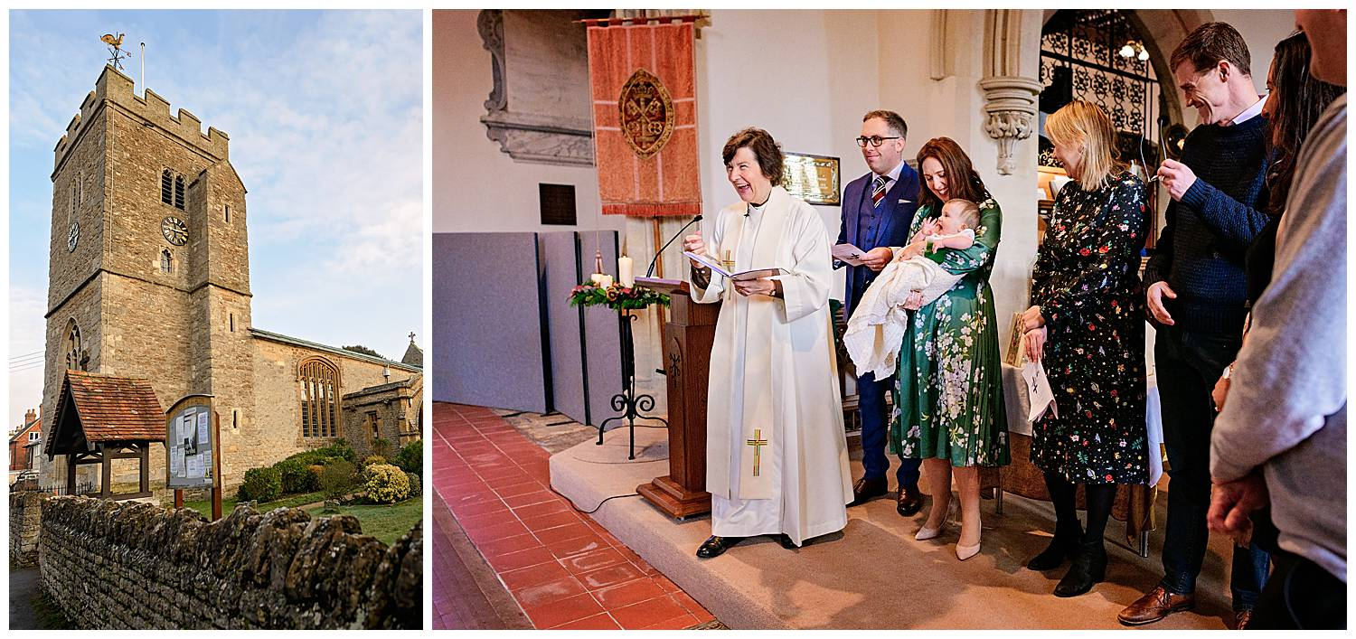Oxford Christening Photographer captures baby shouting at vicar