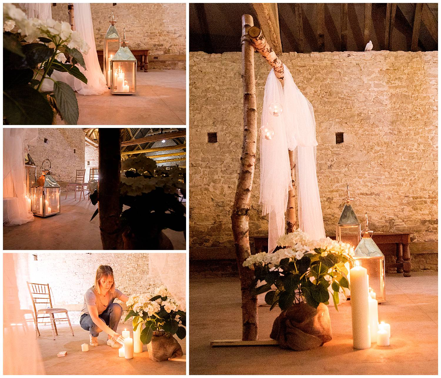 Candlelit wedding venue
