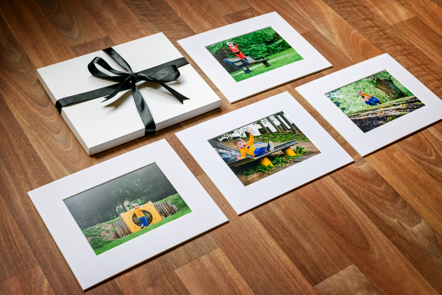 Selection of printed photos by Alexandra Tandy Photography